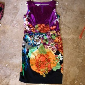 Kay under Asian inspired silk dress
